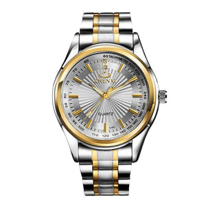 Fashion Stainless Steel Quartz Golden Wristwatches Mens Watches