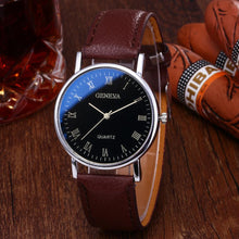 Load image into Gallery viewer, Fashion Casual Mens Blue Glass Quartz Watch