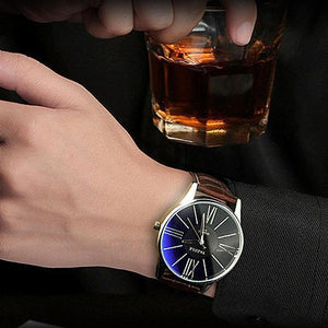 Luxury Mens Fashion Business Quartz-Watch