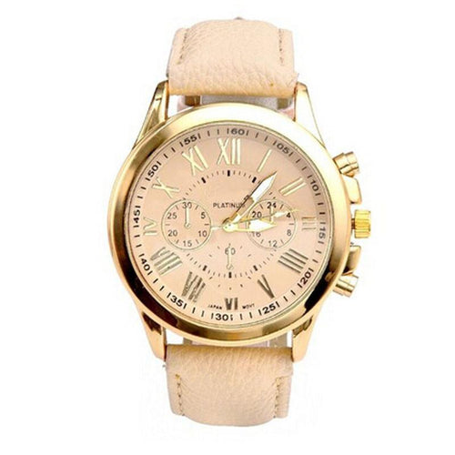 Fashion Casual Analog Quartz Wrist Watches Woman's Watch