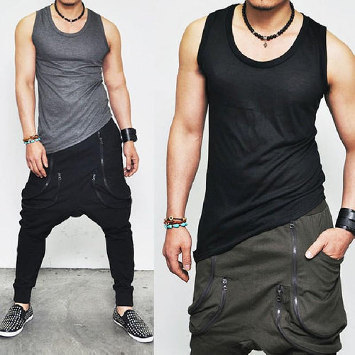 Daily Round Collar Plain Sleeveless Vest