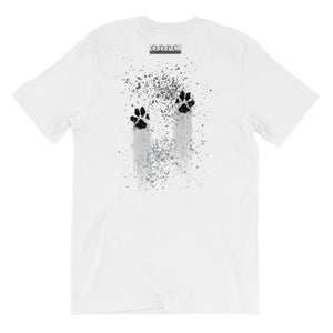 Muddy Paws Short-Sleeve Unisex T-Shirt:  No Quote On The Back