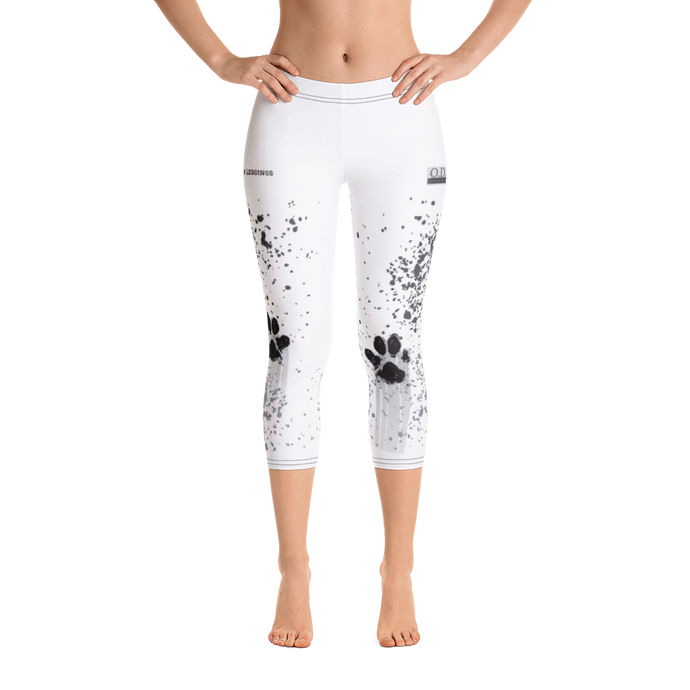 Muddy Paw Print Capri Leggings