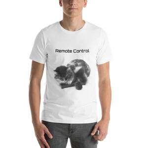 """Remote Control"" Cat Short-Sleeve Unisex T-Shirt"