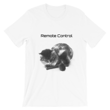 "Load image into Gallery viewer, ""Remote Control"" Cat Short-Sleeve Unisex T-Shirt"