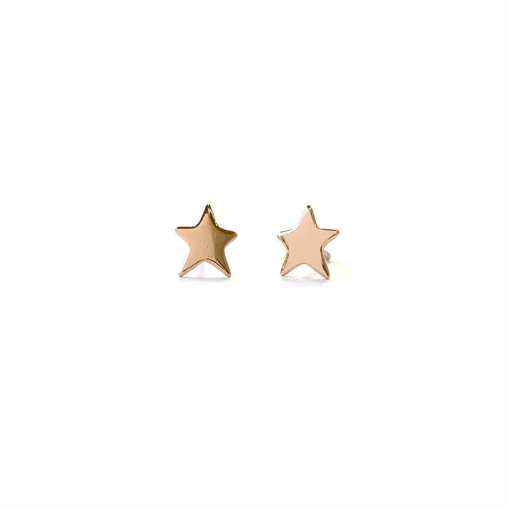 Rose Gold Star Studs