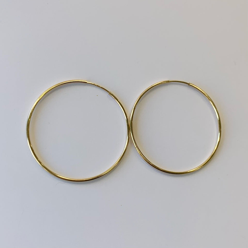 "1.5"" Gold Plated Hoops"