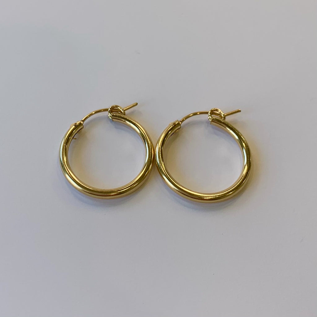 ".8"" Gold Plated Hoops"