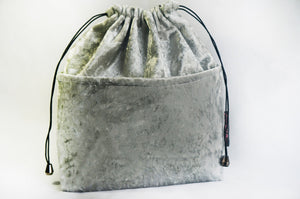 Handbag Organiser in Silver Velvet - Bag All Done