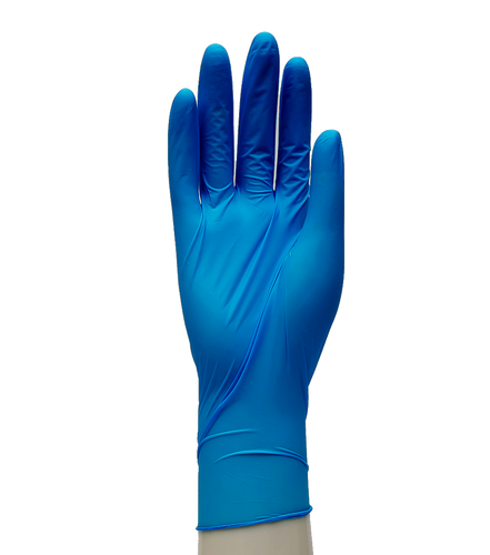 Amadex Blue Nitrile Gloves Medium