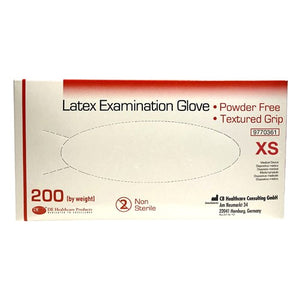 DE Latex Gloves Xtra Small Box of 200