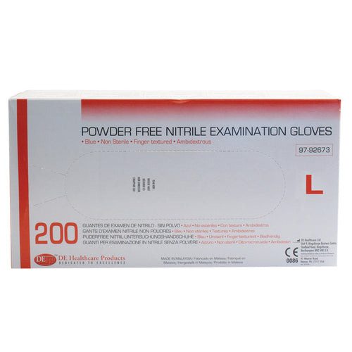 Nitrile Large Examination Gloves, Box of 200