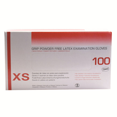 Latex Powder Free Gloves, Examination Gloves, Extra Small
