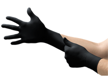 Load image into Gallery viewer, Ansell Microflex Black Nitrile Gloves - Box of 100