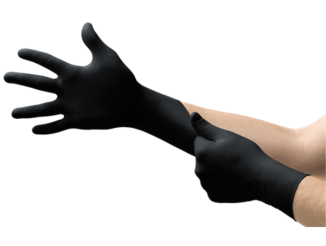 Ansell Microflex Black Nitrile Gloves - Box of 100