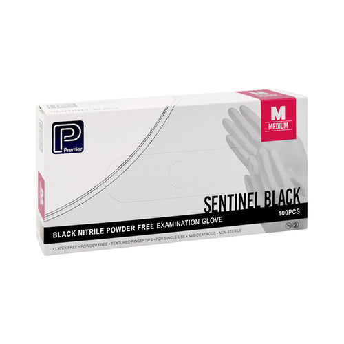 Premier Black Nitrile Gloves - Medium - Oil Resistant