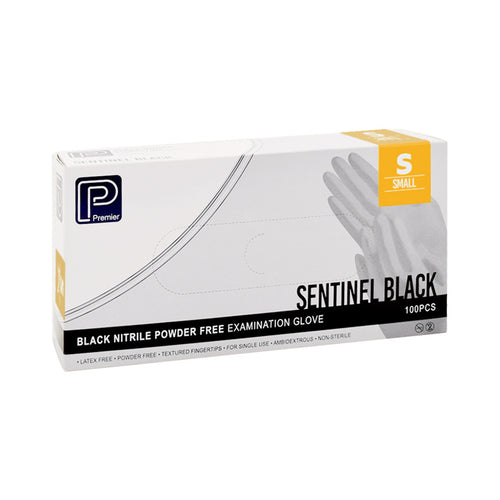 Premier Black Nitrile Gloves - Small - Oil Resistant