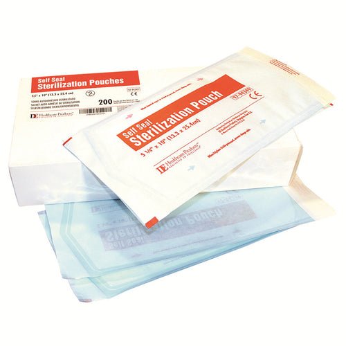 Self Seal Sterilisation Pouch 89 x 254mm, Box of 200