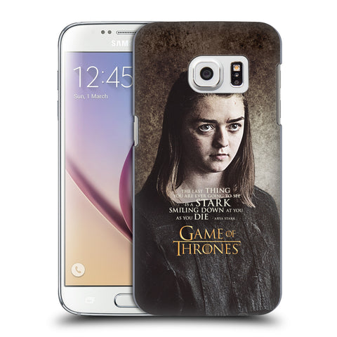 Official HBO Game of Thrones Character Quotes Hard Back Case for Samsung Galaxy S7