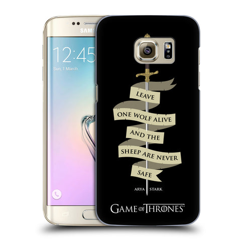 Official HBO Game of Thrones Graphics Hard Back Case for Samsung Galaxy S7 Edge