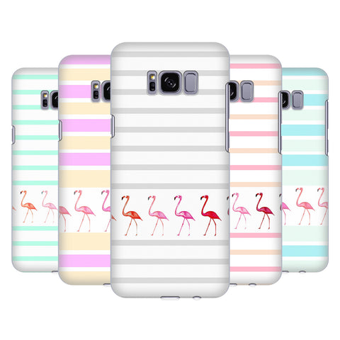 Official Monika Strigel Flamingos And Stripes Hard Back Case for Samsung Galaxy S8+ S8 Plus