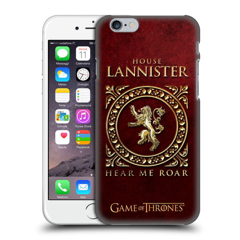 Official HBO Game of Thrones Metallic Sigils Hard Back Case for Apple iPhone 6 6S