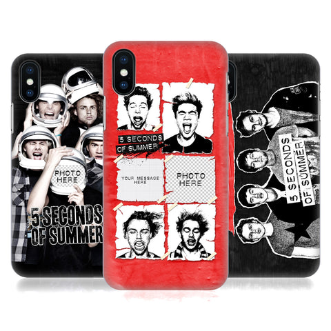 Custom Customised Personalised 5 Seconds of Summer Group Hard Back Case for Apple iPhone 5 5S SE