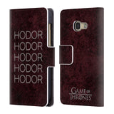 Official HBO Game of Thrones Hodor Leather Book Wallet Case Cover For Samsung Galaxy A3 (2017)