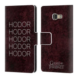 Official HBO Game of Thrones Hodor Leather Book Wallet Case Cover For Samsung Galaxy A5 (2017)