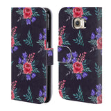 Official Julia Badeeva  Floral Patterns 2 Leather Book Wallet Case Cover For Samsung Galaxy S6
