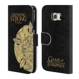 Official HBO Game of Thrones House Mottos Leather Book Wallet Case Cover For Samsung Galaxy S6