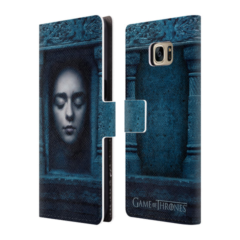 Official HBO Game of Thrones Faces 2 Leather Book Wallet Case Cover For Samsung Galaxy S7 Edge