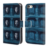 Official HBO Game of Thrones Faces Leather Book Wallet Case Cover For Apple iPhone 5 5S SE