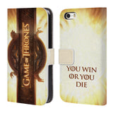 Official HBO Game of Thrones Key Art Leather Book Wallet Case Cover For Apple iPhone 5 5S SE