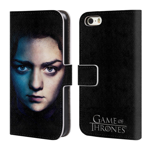 Official HBO Game of Thrones Valar Morghulis Leather Book Wallet Case Cover For Apple iPhone 5 5S SE