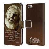 Official HBO Game of Thrones Hodor Leather Book Wallet Case Cover For Apple iPhone 6 6S