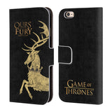 Official HBO Game of Thrones House Mottos Leather Book Wallet Case Cover For Apple iPhone 6 6S
