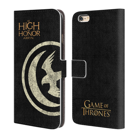 Official HBO Game of Thrones House Mottos Leather Book Wallet Case Cover For Apple iPhone 6 Plus / 6S Plus