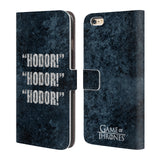 Official HBO Game of Thrones Hodor Leather Book Wallet Case Cover For Apple iPhone 6 Plus / 6S Plus