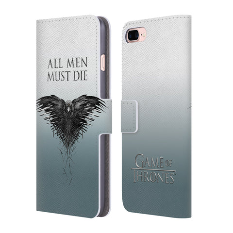 Official HBO Game of Thrones Key Art Leather Book Wallet Case Cover For Apple iPhone 7 Plus / 8 Plus
