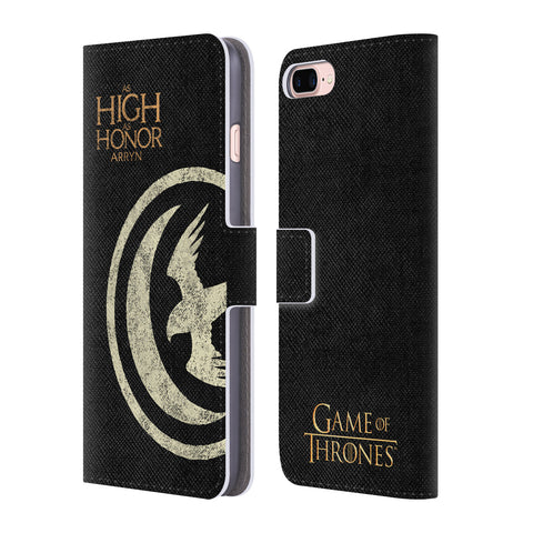 Official HBO Game of Thrones House Mottos Leather Book Wallet Case Cover For Apple iPhone 7 Plus / 8 Plus
