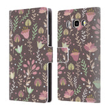 Official Julia Badeeva  Floral Patterns 2 Leather Book Wallet Case Cover For Samsung Galaxy J5 (2016)