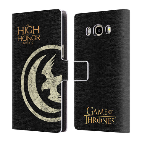 Official HBO Game of Thrones House Mottos Leather Book Wallet Case Cover For Samsung Galaxy J5 (2016)