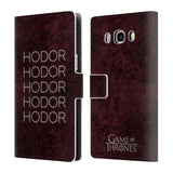 Official HBO Game of Thrones Hodor Leather Book Wallet Case Cover For Samsung Galaxy J5 (2016)