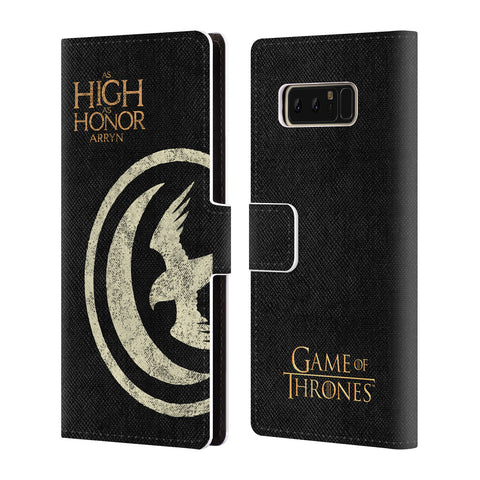 Official HBO Game of Thrones House Mottos Leather Book Wallet Case Cover For Samsung Galaxy Note8