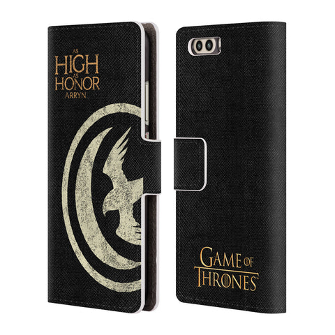 Official HBO Game of Thrones House Mottos Leather Book Wallet Case Cover For Huawei P10