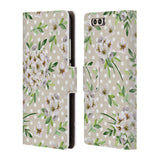 Official Julia Badeeva  Floral Patterns 2 Leather Book Wallet Case Cover For Huawei P10