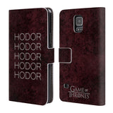 Official HBO Game of Thrones Hodor Leather Book Wallet Case Cover For Samsung Galaxy S5 / S5 Neo