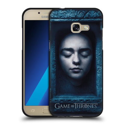 Official HBO Game of Thrones Faces 2 Black Soft Gel Case for Samsung Galaxy A3 (2017)