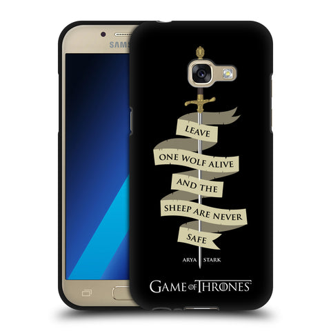 Official HBO Game of Thrones Graphics Black Soft Gel Case for Samsung Galaxy A3 (2017)